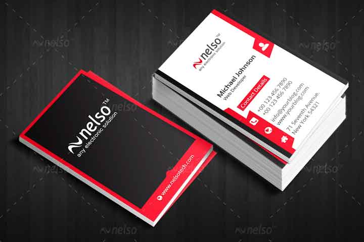 visiting card sample two