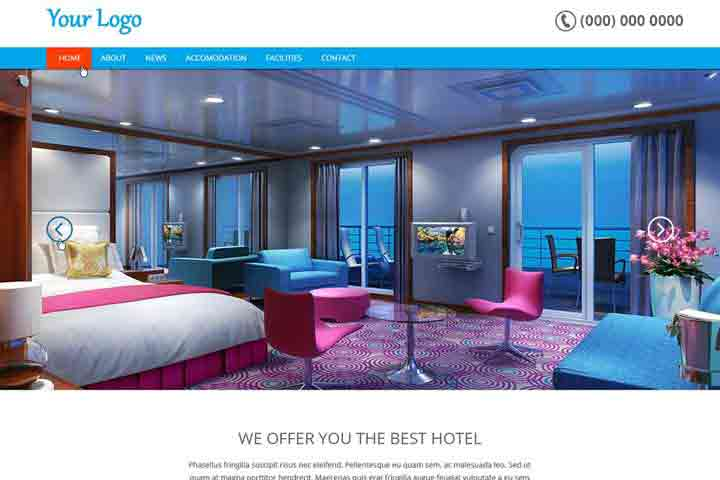 Website Devlopment-hotel-template
