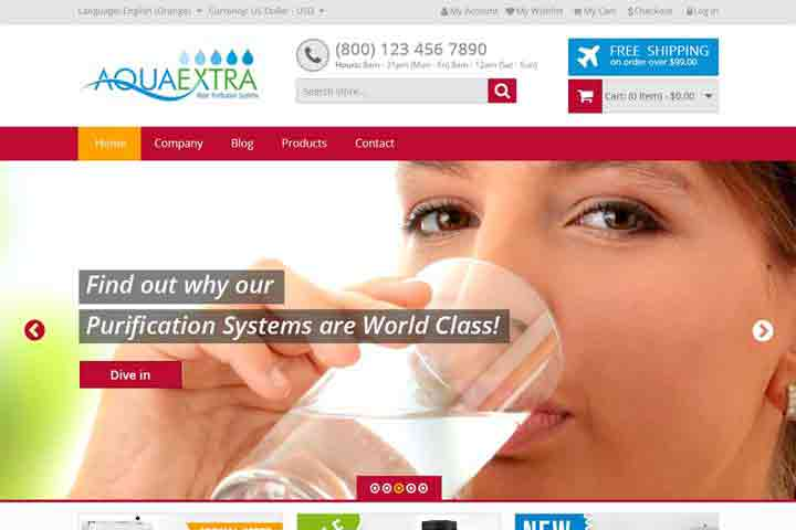 Website Devlopment-water-filter-template
